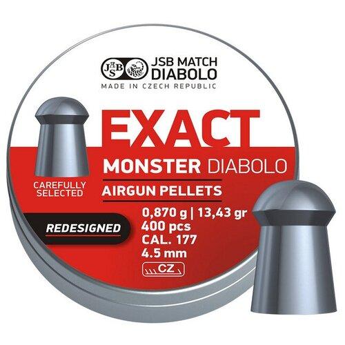 Пули JSB Exact Monster Redesigned Diabolo 4,5 мм, 0,87 грамм, 400 штук