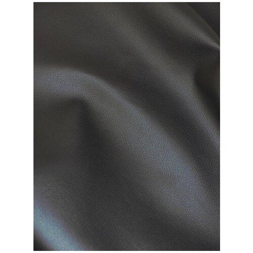 Экокожа автомобильная, искусственная кожа, гладкая - 1,4х10 м, цвет: серый