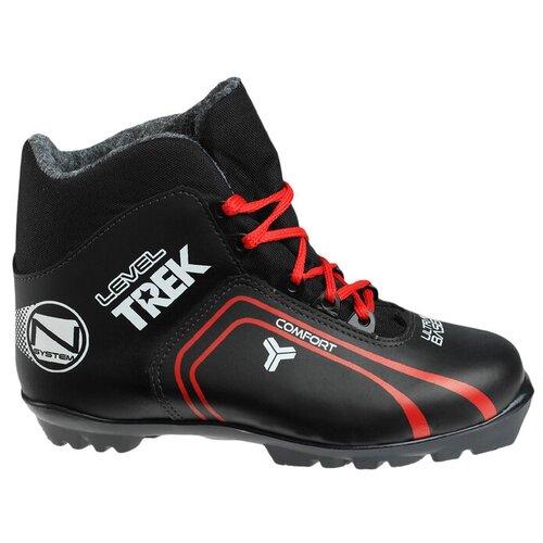 Trek Ботинки лыжные TREK Level 2 NNN ИК, цвет чёрный, лого красный, размер 36