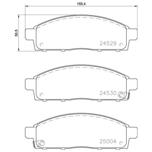 Фото - Дисковые тормозные колодки передние NISSHINBO NP3016 для Fiat Fullback, Mitsubishi L200, Mitsubishi Pajero Sport, Nissan NV200 (4 шт.) дисковые тормозные колодки передние trw gdb3435 для mitsubishi pajero sport mitsubishi montero mitsubishi l200 4 шт
