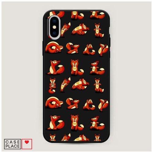 Чехол силиконовый Матовый iPhone XS Max (10S Max) Лисья йога
