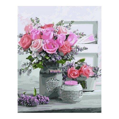 Купить Картина по номерам на холсте Paintboy Аромат роз , 40х50 см, GX-32734, Картины по номерам и контурам