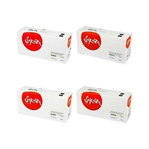 Sakura SAQ3962A-SAQ3963A-SAQ3961A-SAQ3960A Картриджи комплектом Q3962A, Q3963A, Q3961A, Q3960A полный набор совместимый CMYK:4K, BK:5K стр. [выгода 3%] для LaserJet 2550L 2550, 2550LN, 2550n, 2820, 2840, 3000, 3000dn, 3000dtn, 3000n