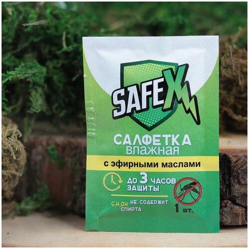 Влажная салфетка SAFEX от комаров, 1 шт