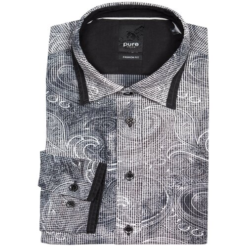 Рубашка pure размер M черный/белый