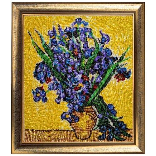 Набор для вышивания BUTTERFLY 151 Ирисы по мотивам картины В. Ван Гога 32х28 см