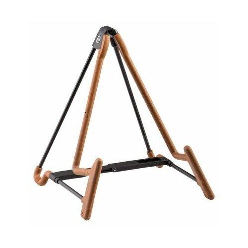 K&M 17581-014-95 стойка для электрогитары Heli 2, 1,3 кг, черно-коричневая