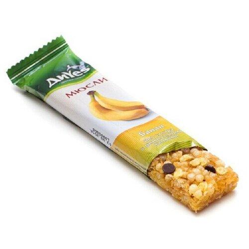 Батончик мюсли ДиYes банан без сахара с шоколадными каплями 25гр 9 шт. недорого