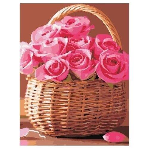Купить Картина по номерам на холсте Paintboy Корзина роз , 40х50 см, GX-34808, Картины по номерам и контурам