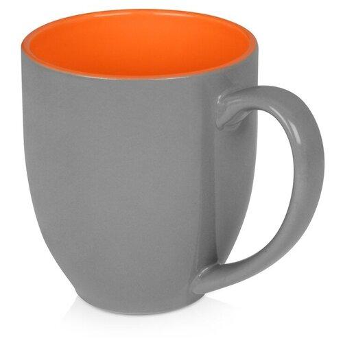 Кружка керамическая «Gracy» 470мл, серый/оранжевый