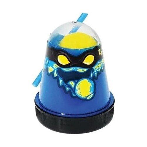 Лизун Slime Ninja 2 в 1 (Синий и Жёлтый)