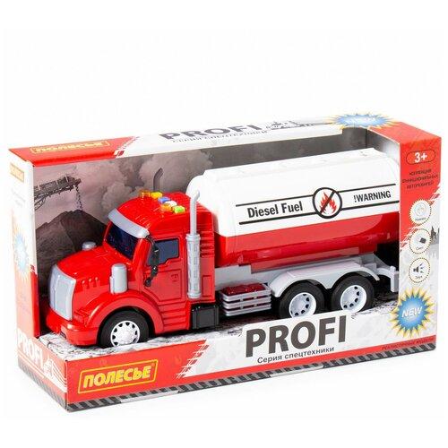 Купить Автомобиль Полесье Профи, контейнеровоз, инерционный, со светом 86464, Машинки и техника