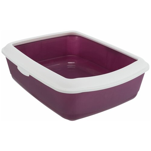 Фото - Туалет Classic с бортиком, 37 х 15 х 47 см, ягодный/белый, Trixie (лоток для животных, 40183) туалет trixie с бортиком для кошек 45х29х54см 40371