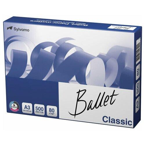 Бумага офисная BALLET CLASSIC, большого формата (297х420), А3, 80 г/м2, 500 л., марка В, ColorLok, белизна 153%