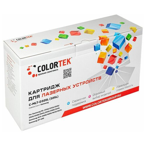 Фото - Картридж лазерный Colortek CT-MLT-D105L для принтеров Samsung картридж colortek ct tn 2080 для принтеров brother