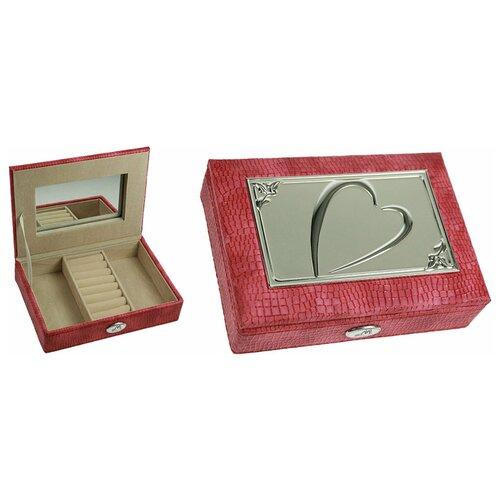 Moretto Шкатулка для украшений Сердце розового цвета (Moretto, 18 х 13 х 5 см)