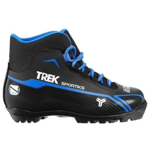 Trek Ботинки лыжные TREK Sportiks NNN ИК, цвет чёрный, лого синий, размер 45