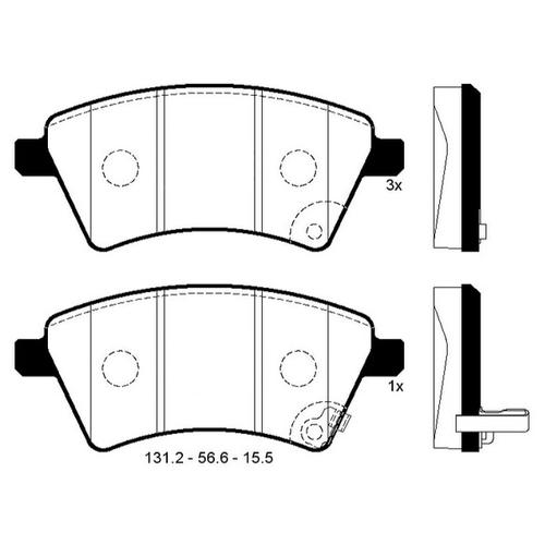 Дисковые тормозные колодки передние SANGSIN BRAKE SP1751 для Suzuki SX4, Fiat Sedici (4 шт.)