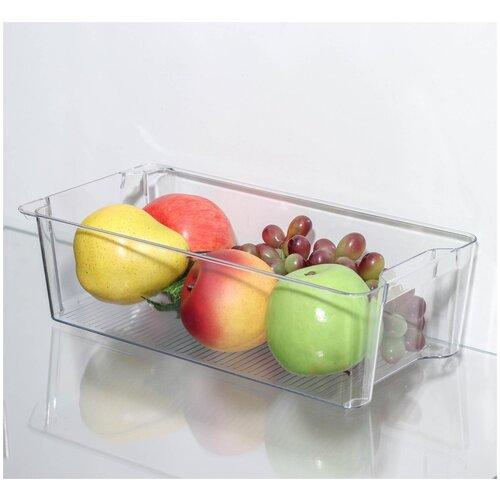 Органайзер для холодильника 16*30*9 см. Цвет прозрачный. Лоток для холодильника. Контейнер для холодильника