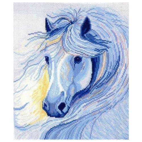 Набор для вышивания сделай своими руками арт.Б-14 Белогривая лошадь 26х28 см