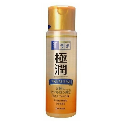 Rohto HADALABO Gokujyun Premium Премиум гиалуроновое молочко для лица 140 мл.