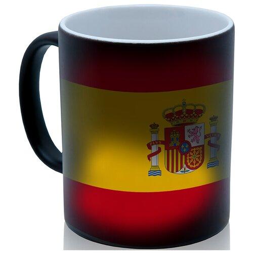 Кружка хамелеон Испанский флаг, крутой сувенир