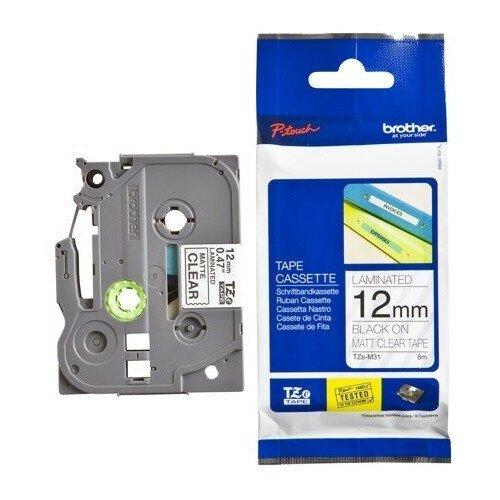 Фото - TZe-M31 Label Roll лента для наклеек Brother, 8 м, черный на прозрачном лента m21 250 430 черный на прозрачном