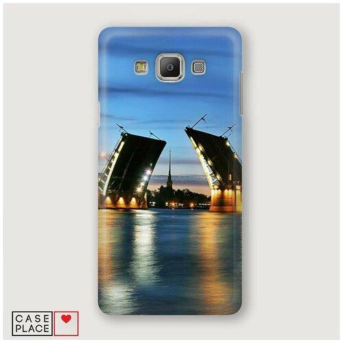 Чехол Пластиковый Samsung Galaxy A5 Разведенные мосты в СПб 2