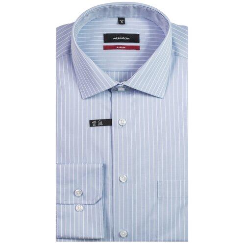 Рубашка Seidensticker размер 42 голубой/белый