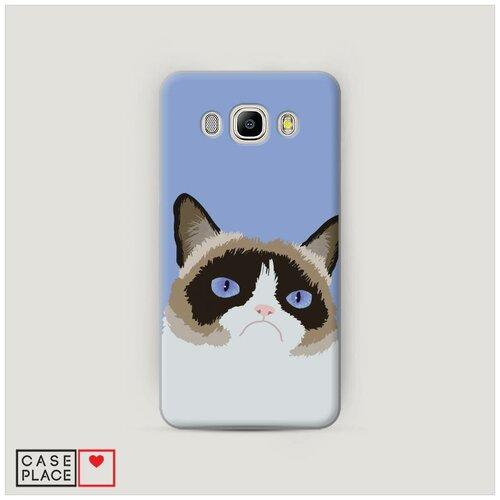 Чехол Пластиковый Samsung Galaxy J7 2016 Мем грустный кот
