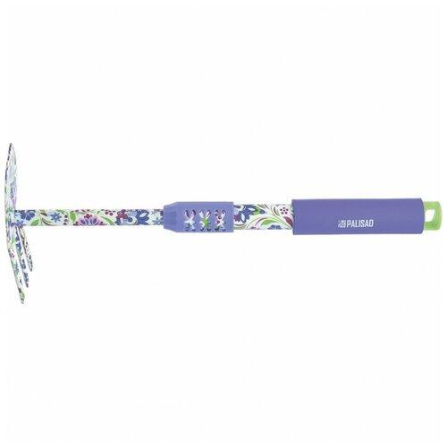 Мотыжка комбинированная, 65 x 385 мм, стальная, удлиненная рукоятка, Flower Mint Palisad