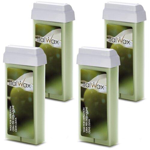 Купить Italwax, Набор Воск в картридже (олива) 100 мл, 4 шт