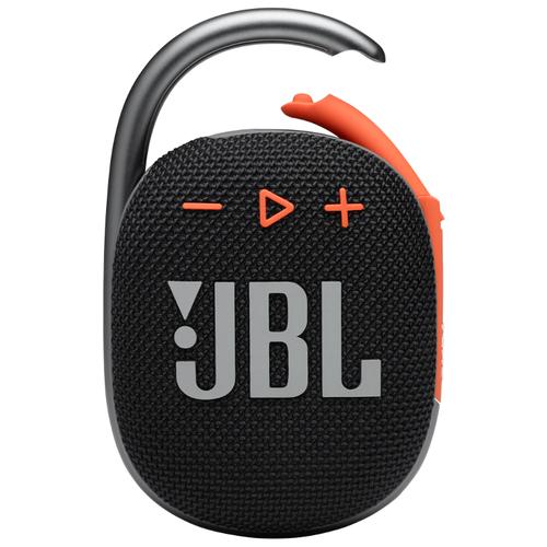 Портативная акустика JBL Clip 4, черный/оранжевый