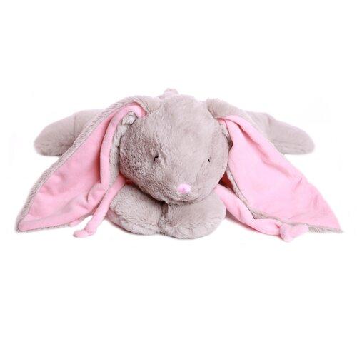 Мягкая игрушка Кролик 15 см серый/розовый