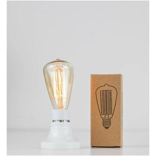 Лампочка винтажная накаливания Эдисона ретро, ST48, груша, Е14, 40Вт, теплый свет 2300K