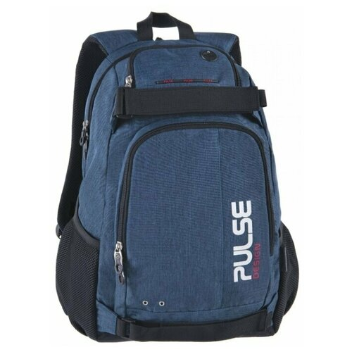 Рюкзак PULSE SCATE BLUE, 48х36х23см pulse рюкзак pulse scate black dot