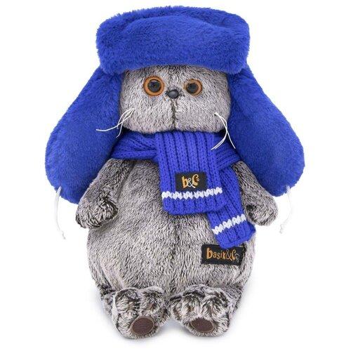 Фото - Budi Basa Мягкая игрушка Кот Басик в меховой шапке, 30 см игрушка мягкая budi basa басик baby в шапке панда 20 см bb 070