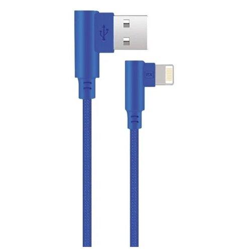 Фото - Аксессуар Exployd Game USB - Lightning 1m Blue EX-K-541 аксессуар exployd magnetic usb lightning 1m blue ex k 562