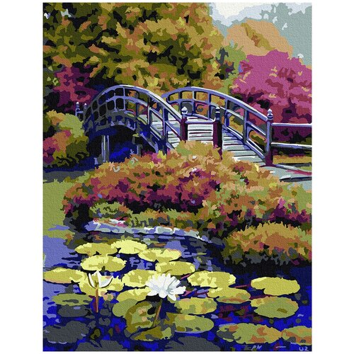Фото - Картина по номерам с цветной схемой на холсте Molly арт.KK0671 Японский сад 30х40 см картина по номерам с цветной схемой на холсте 30х40 кот рокер 19 цветов kk0610