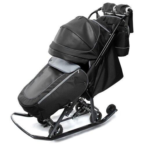 Санки-коляска Pikate Deluxe (черный)