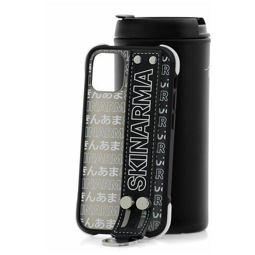 Чехол для Apple iPhone 12 mini Skinarma Kotoba Black Strap / Чехол бампер на iPhone / накладка на iPhone / защитный чехол на айфон / защитный чехол / защитный бампер для iPhone / накладка для айфона / противоударный бампер для телефона / чехол на телефон / противоударный чехол для iPhone / бампер айфон / чехол на айфон / защитный чехол / защитный бампер для iPhone / накладка для айфона / противоударный бампер для телефона / чехол на телефон