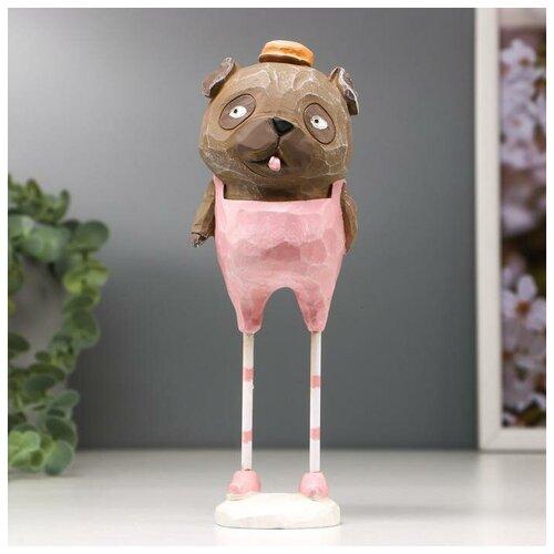 Сувенир полистоун Пёсик-потёма на длинных ножках 17,5х7х6,5 см 4645736