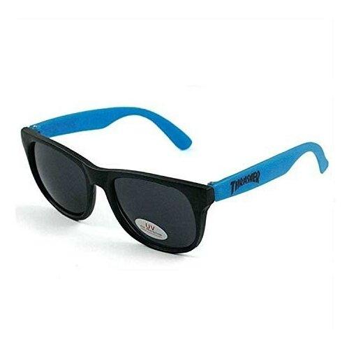 Очки THRASHER Logo Sunglasses NEON BLUE 2021