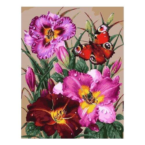 Картина по номерам GX 32036 Бабочка и лилии 40*50 картина по номерам gx 9871 уточки и лодочка 40 50