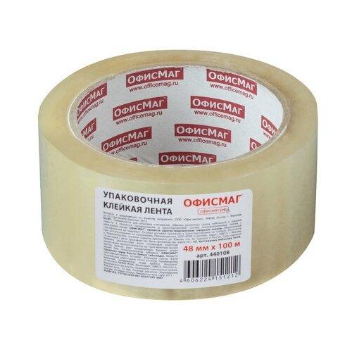 Купить Клейкая лента (скотч) упаковочная Офисмаг (48мм x 100м, 45мкм, прозрачная) (440108), ОфисМаг, Скотч