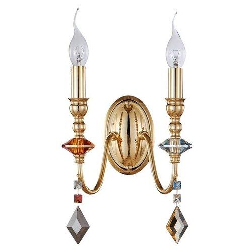Фото - Бра MERCEDES AP2 GOLD/COLOR (Crystal Lux) бра crystal lux mercedes ap2 gold color mercedes