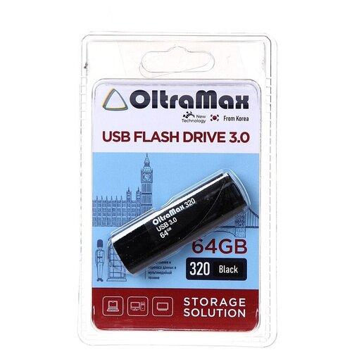 Фото - USB Flash Drive 64Gb - OltraMax 320 OM-64GB-320-Black usb flash drive 64gb oltramax 290 om 64gb 290 dark red