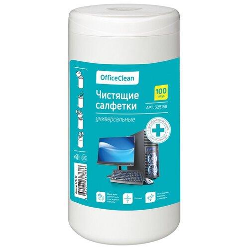 Фото - Салфетки чистящие влажные OfficeClean, универсальные, антибактериальные, в тубе, плотные, 100шт. антибактериальные салфетки для поверхностей nv office мягкая упаковка 180х110 мм 15шт