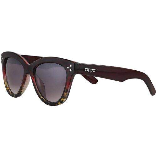 Очки солнцезащитные ZIPPO, женские, бордовые, OB85-02