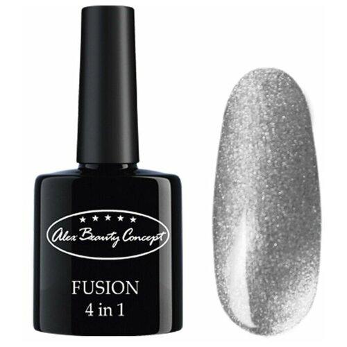 ГЕЛЬ-ЛАК Alex Beauty Concept FUSION 4 IN 1 GEL, цвет серебристый.